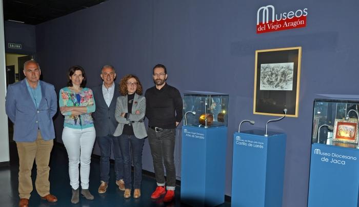 Set del Museos del Viejo Aragón en el Museo de Miniaturas Militares de la Ciudadela de Jaca con sus responsables