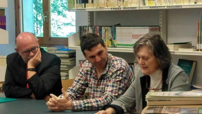Antón Castro, Fernando Sánchez, Olga Lucas