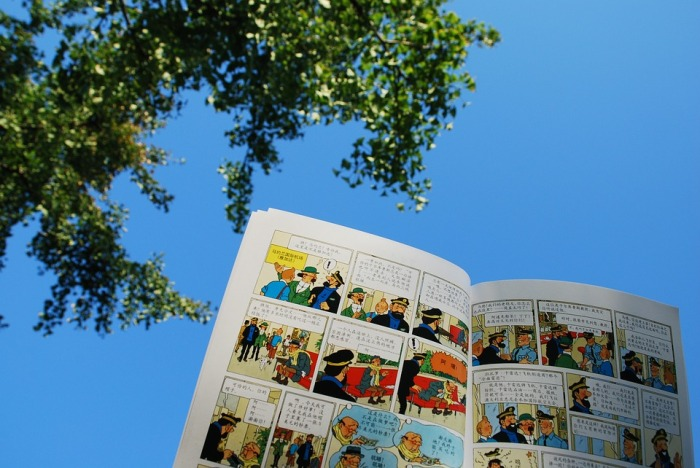 Blue Sky The Adventures Of Tintin Sunshine Cartoon